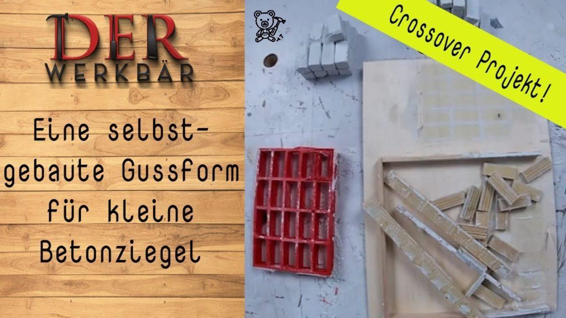 Eine selbstgebaute Gussform für kleine Betonziegel @derwerkbaer
